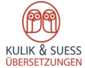 Bild zu Übersetzungsbüro Kulik & Suess - Agentur Kulik&Suess Übersetzungen München in München