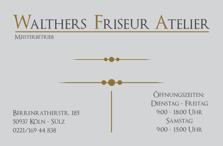 Bild zu Walthers Friseur Atelier in Köln