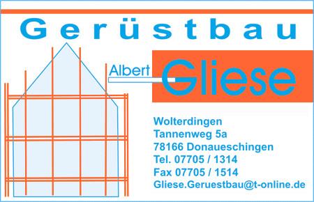Bild zu Albert Gliese Gerüstbau in Donaueschingen