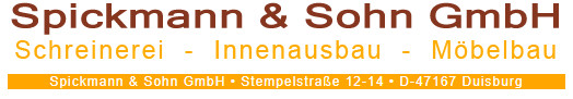 Bild zu Spickmann & Sohn GmbH Schreinerei in Duisburg