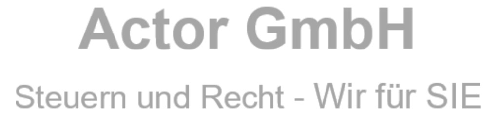 Bild zu Actor GmbH Steuerberatungsgesellschaft Rechtsanwaltsgesellschaft in Bergisch Gladbach