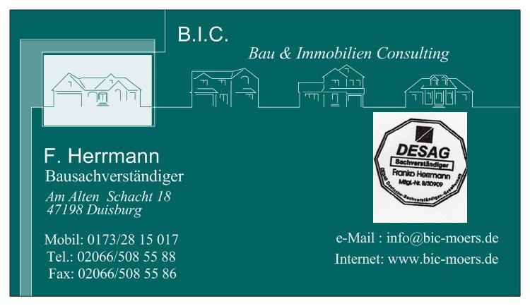 Bild zu BIC-Herrmann Bausachverständigenbüro in Duisburg
