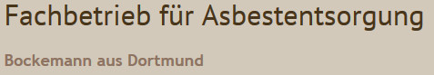 Bild zu Dachdeckerbetrieb Bockemann in Dortmund