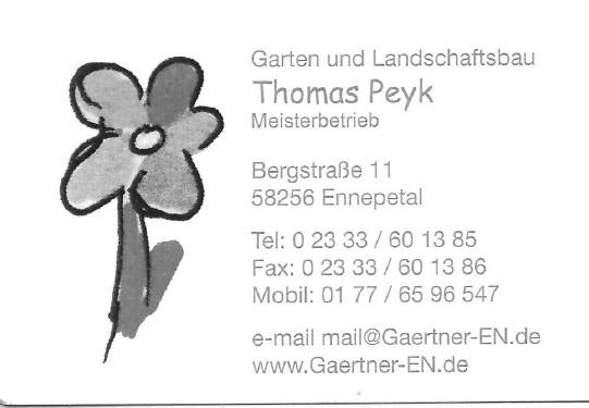 Bild zu Thomas Peyk Garten- und Landschaftsbaumeisterbetrieb in Ennepetal