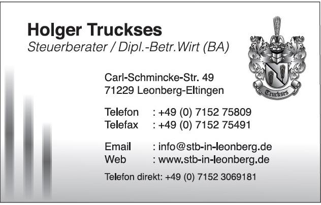 Bild zu Holger Truckses Steuerberater in Leonberg in Württemberg