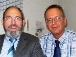 Immobilienmakler Johannes W. Krüger (li), Egon Goebel, Sparkassenbetriebswirt (re)