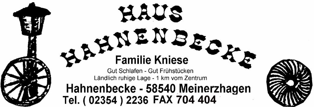 Bild zu Hotel Pension Haus Hahnenbecke in Meinerzhagen