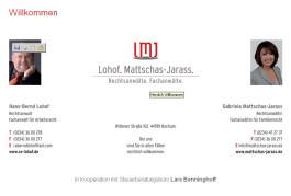 Lohof.Matschas-Jarass Rechtsanwälte Fachanwälte