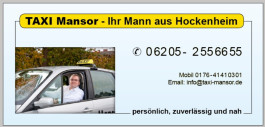 Taxi Mansor Hockenheim