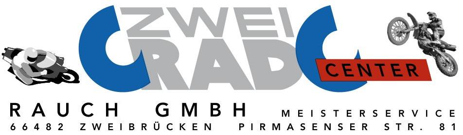"""Logo  ZWEIRAD-CENTER RAUCH GMBH """"für Zweibrücken, Südwestpfalz und Umgebung"""""""