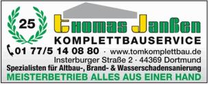 Firmenlogo: Komplettbauservice Thomas Janßen