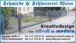 Schmiede & Schlosserei Weise Hartmannsdorf bei Chemnitz
