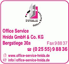 Firmenlogo: Office Service Hnida GmbH & Co. KG