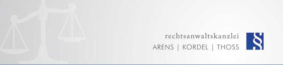 Bild zu Arens, Kordel & Thoß Rechtsanwälte in Gera