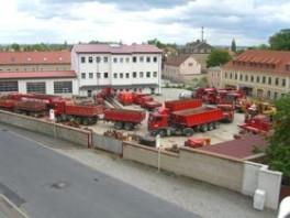 Betriebshof Großenhain mit einem kleinen Teil unserer Flotte