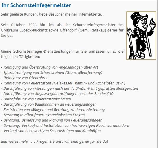 Möbelhäuser Lübeck jan marc dethmann schornsteinfegermeister lübeck 23569 yellowmap