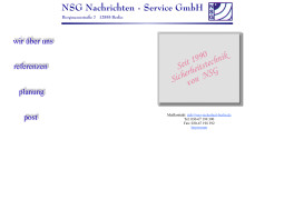 NSG Nachrichten-Service-GmbH Berlin