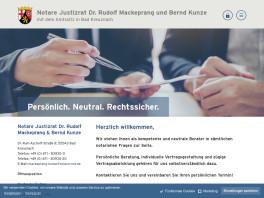 Notare JR Dr. Rudolf Mackeprang & Bernd Kunze Bad Kreuznach