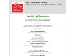 Dipl.-Ing. Reinhart Hennig, Öffentlich bestellter Vermessungsingenieur (ÖbVI) Teltow