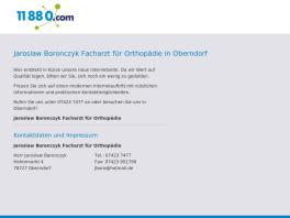 Jaroslaw Boronczyk Facharzt für Orthopädie Oberndorf am Neckar