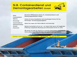 N.B. Containerdienst und Demontagearbeiten GmbH Mannheim