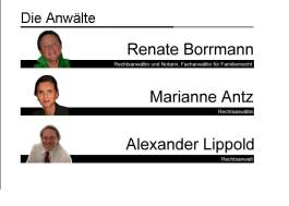 Rechtsanwälte und Notarin Renate Borrmann,Marianne Antz,Alexander Lippold Wennigsen, Deister