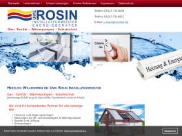Uwe Rosin Gas- Sanitär- Wärmepumpen- Solartechnik Werder, Havel