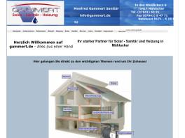 Gammert - Solar Heizung Sanitär Mühlacker