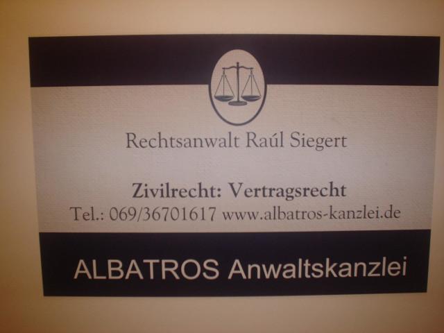 Albatros Anwaltskanzlei Rechtsanwalt Raúl Siegert Tel