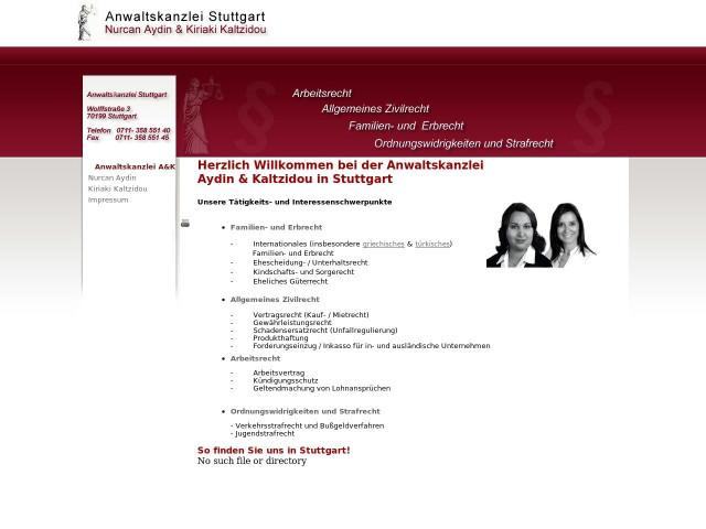 Anwaltskanzlei Nurcan Aydin Kiriaki Kaltzidou Tel 0711