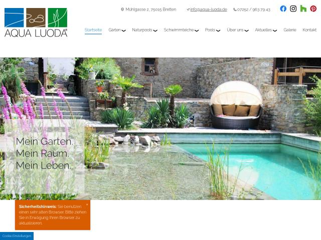 Aqua Luoda Schwimmteich Garten Thorsten Schwuchow Bretten