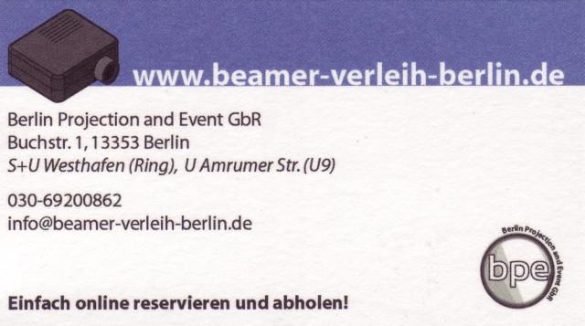 Beamer Verleih Berlin De Vermietung Berlin Wedding 3 Bewertungen