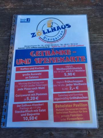Biergarten Am Zollhaus Wurzburg Offnungszeiten Telefon Adresse