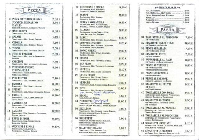 Italienische Küche Münster | Borgo Antico Italienische Kuche Pizzeria Tel 0251 53087
