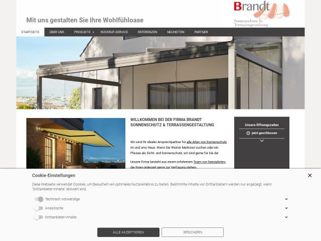 Brandt Sonnenschutz Terrassengestaltung Tel 0221 168153