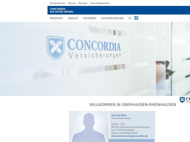 Concordia Versicherung Timo Kemmerer Tel 07254 20446