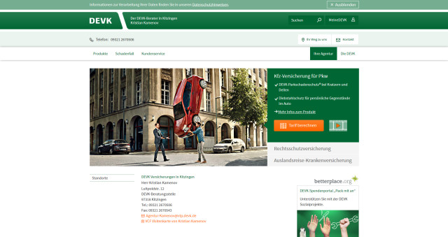 Devk Versicherungen Kristian Kamenov Agentur Kitzingen Tel