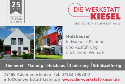 die werkstatt kiesel gmbh tel 07963 6469. Black Bedroom Furniture Sets. Home Design Ideas