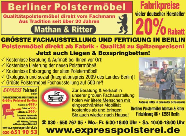 Polsterei Berlin express polsterei gmbh polsterei berlin köpenick 40 bewertungen