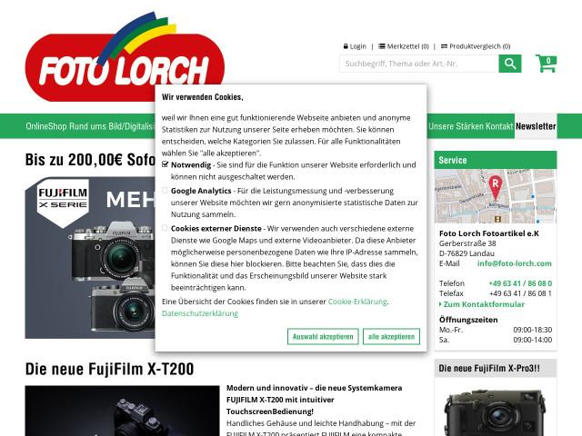 ▷ Foto Lorch Fotoartikel e.K. ✅ | Tel. (06341) 860... ☎ - Adresse