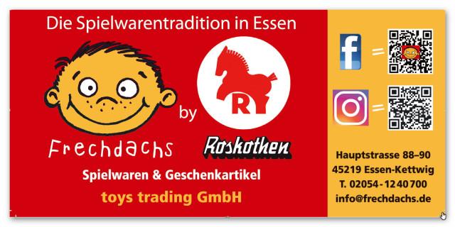 ee7e6a678f6ee Adresse und QR-Codes Frechdachs by Roskothen Spielwaren in Essen