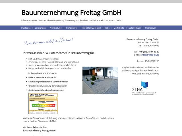 Bauunternehmen Braunschweig freitag gmbh tel 0531 8746 öffnungszeiten