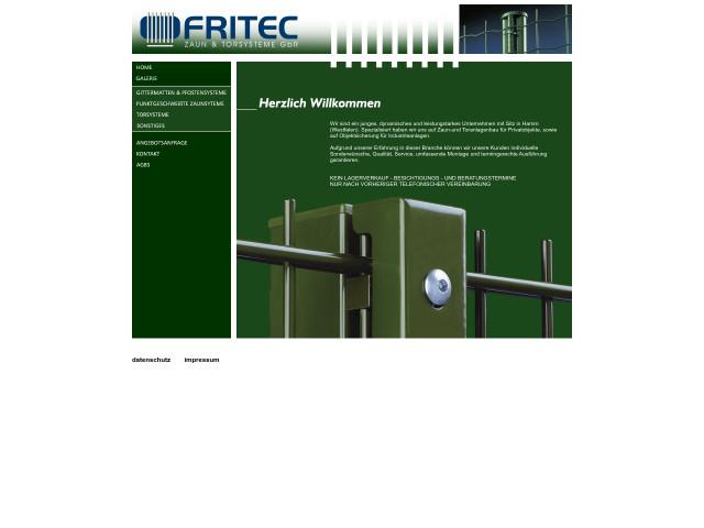 Fritec Zaun Torsysteme Gbr Tel 02381 43803