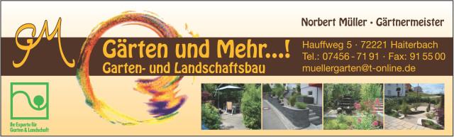 Garten Und Mehr gärten und mehr norbert müller gärtnermeister tel 07456