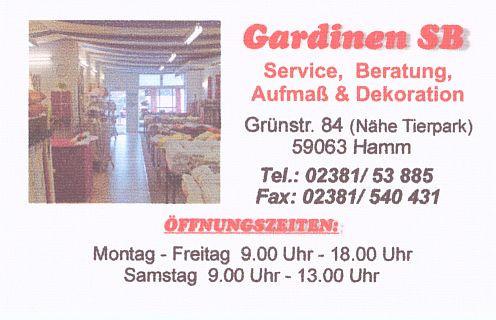 ▷ Gardinen SB – Gerwin – Kurowski GbR ✅ | Tel. (02381) 538 ☎