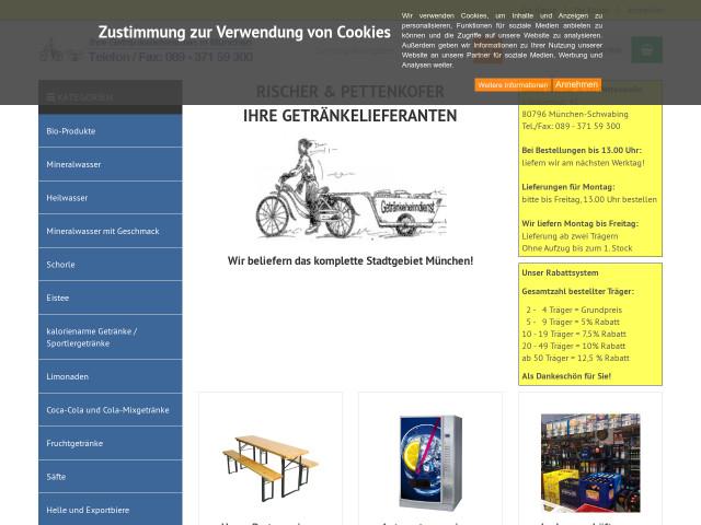 ▷ Getränkemarkt und Heimdienst Rischer und Pettenkofer ✅ | Tel ...