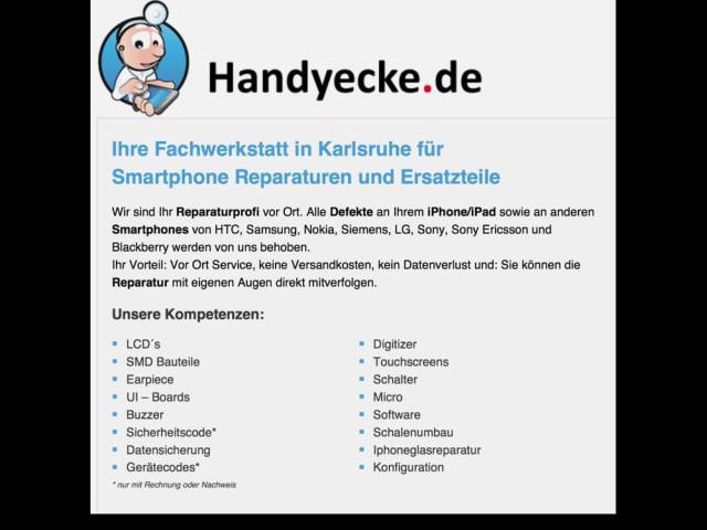 Lassen Sie Ihr Smartphone reparieren