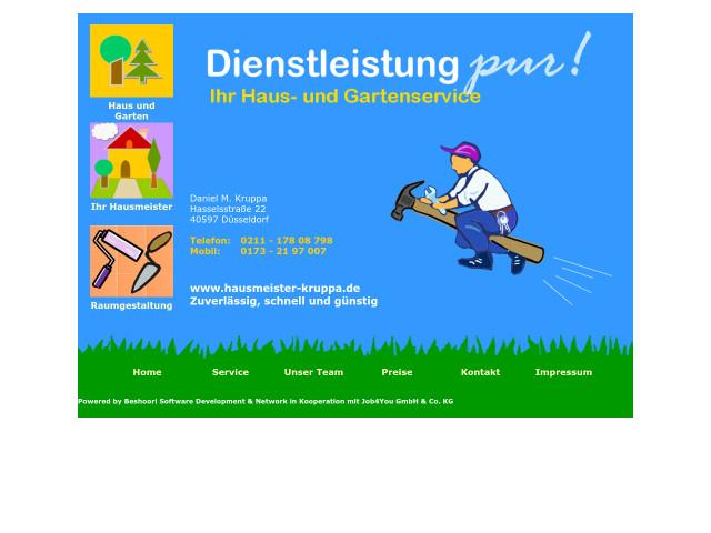 ▷ Haus- und Gartenservice Daniel M. Kruppa ✅ | Tel. (0211 ...