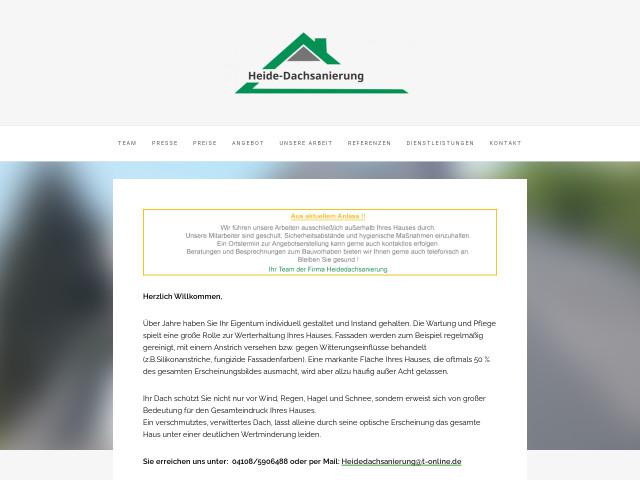 Heide Dachsanierung Tel 04108 59064 Adresse