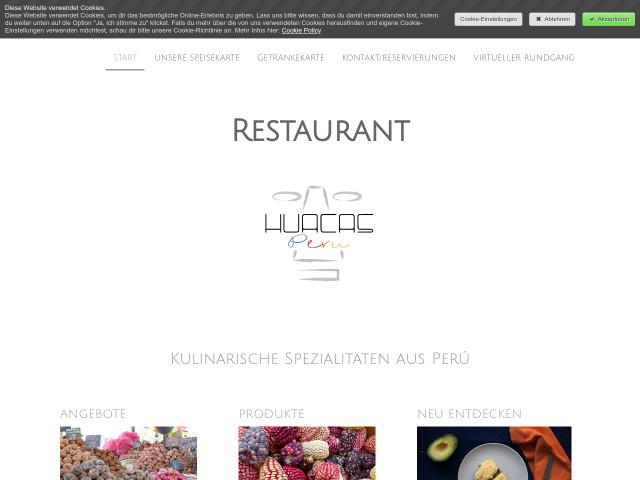 ▷ Huacas Peru Restaurant mit peruanischer und südamerikanischer ...